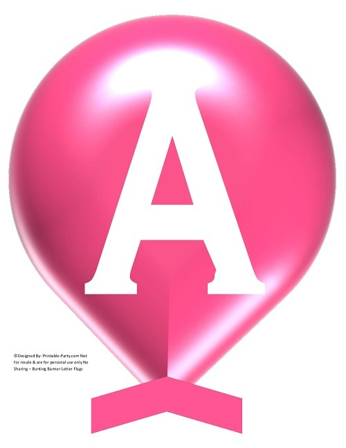 LARGE-ROSE-PINK-WHITE-BALLOON-PRINTABLE-BANNER-LETTERS-A-Z-0-9