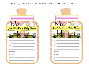 printable-pink-sleeping-beauty-milk-bottle-shaped-baby-shower-invitations