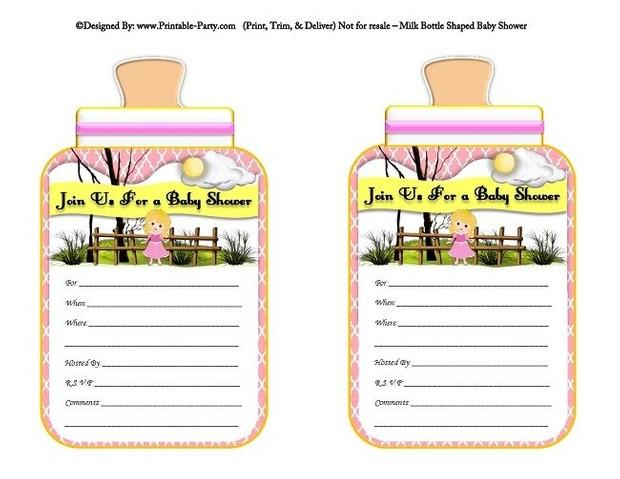 printable-pink-sleeping-beauty-milk-bottle-shaped-baby-shower-invitations