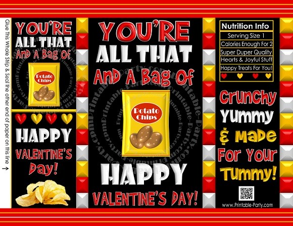 Printable-chip-cookie-treat-favor-bags-potato-chip-VALENTINES-DAY-black-red-yellow
