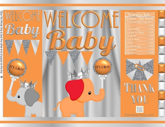 printable-potato-chip-bags-babyshowerprinceboyelephantorangesilver