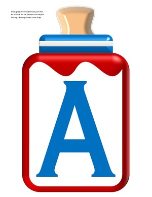 LARGE-BLUE-RED-BABY-BOTTLE-BANNER-LETTERS