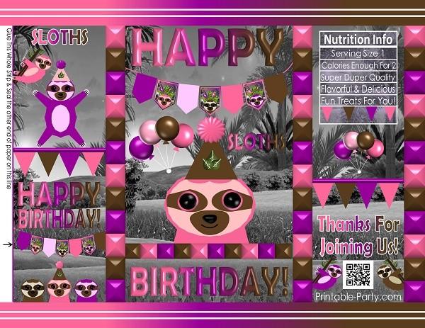 custom-cookie-treat-favor-bags-potato-chip-sloths-girl