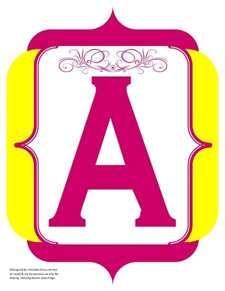 fancy-yellow-violet-pink-printable-banners-letters-numbers
