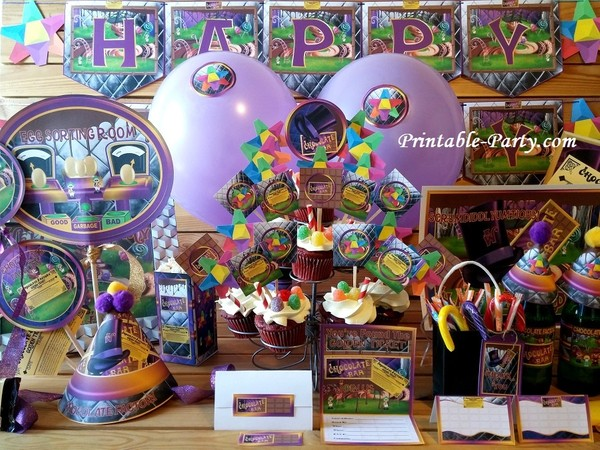 Chocolate Factory Themed Printable Party Supply Pack