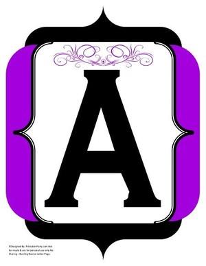 fancy-black-purple-printable-banners-letters-numbers
