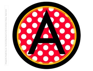 8-INCH-BLACK-YELLOW-RED-DOTS-CIRCLE-PRINTABLE-BANNER-LETTERS-A-Z-0-9