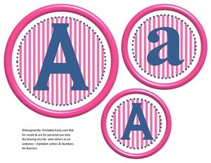 6-inch-blue-baby-hot-pink-stripes-circle-printable-banner-letters-numbers-a-z-0-9