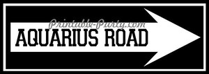 Aquarius Road Right Arrow Signage
