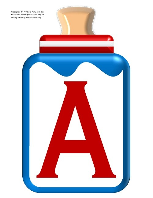 LARGE-RED-BLUE-BABY-BOTTLE-BANNER-LETTERS