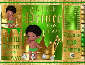 printable-bags-royal-prince-green-gold-boy-baby-shower-african-5