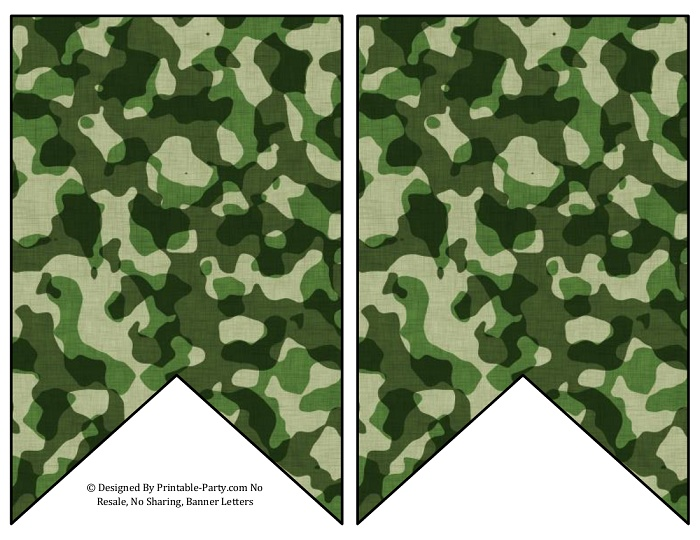 photograph regarding Camo Printable known as 5-inch-swallowtail-environmentally friendly-camouflage-printable-banner-letters-a-z-0-9
