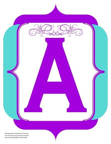 fancy-purple-teal-printable-banners-letters-numbers