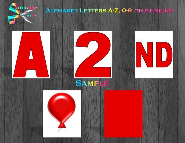 8X10.5  Inch Black White Polka Dot Printable Letters A-Z, 0-9