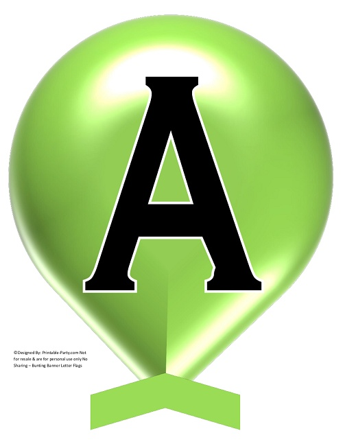 photo regarding Large Printable Letters for Banners identify Superior-Inexperienced-APPLE-BALLOON-PRINTABLE-BANNER-LETTERS-A-Z-0-9