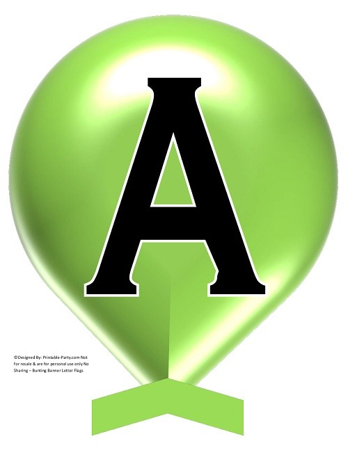 LARGE-GREEN-APPLE-BALLOON-PRINTABLE-BANNER-LETTERS-A-Z-0-9
