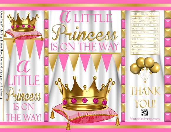 photograph regarding Printable Chip Bags named printable-potato-chip-luggage-princess-pinkwhitegold-babyshower