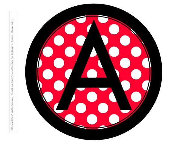 8-INCH-BLACK-RED-DOTS-CIRCLE-PRINTABLE-BANNER-LETTERS-A-Z-0-9