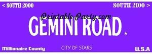 Gemini Zodiac Street Signage JPEG Image