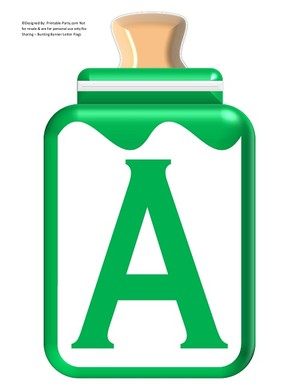 LARGE-GREEN-BABY-BOTTLE-BANNER-LETTERS