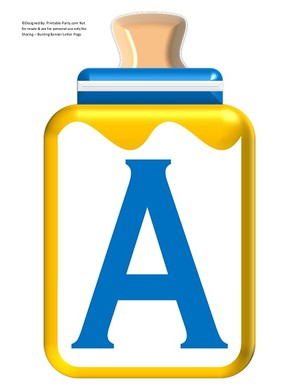 LARGE-BLUE-YELLOW-BABY-BOTTLE-BANNER-LETTERS