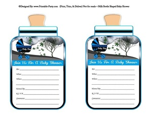 printable-blue-black-carriage-stroller-its-a-boy-babies-bottle-shaped-baby-shower-invitations