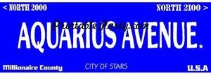 Aquarius Zodiac Street Signage JPEG Image