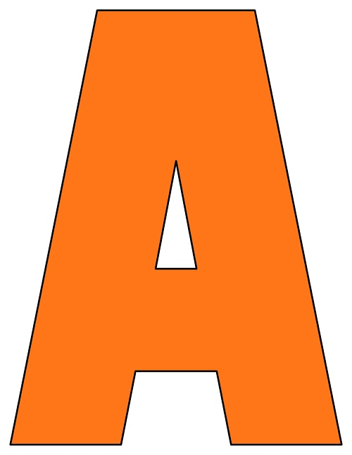 This is a graphic of Printable Letters inside outline