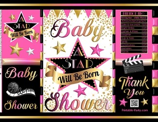 printable-potato-chip-bags-baby-shower-hollywood-PINK-gold-black