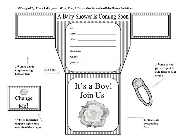 grey-white-stripes-flower-diaper-boy-printable-baby-shower-invitation