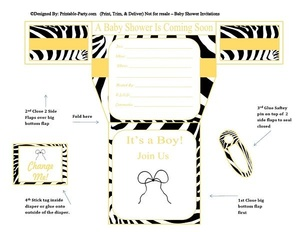 gold-yellow-zebra-diaper-boy-printable-baby-shower-invitation
