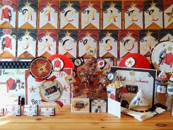 Michael Jackson VIP Birthday Party Supply Printables