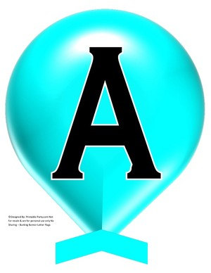 LARGE-AQUA-BALLOON-PRINTABLE-BANNER-LETTERS-A-Z-0-9