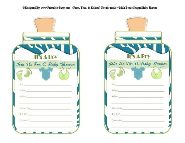 printable-blue-green-zebra-feet-boy-baby-bottle-shaped-baby-shower-invitations