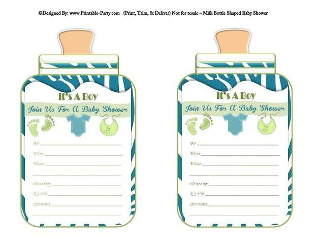 printable-blue-green-zebra-feet-boy-baby-bottle-shaped-baby-shower-invitations