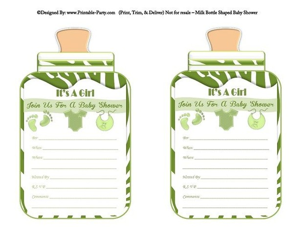 Printable green zebra feet girl baby bottle shaped bab printable green zebra feet girl baby bottle shaped filmwisefo