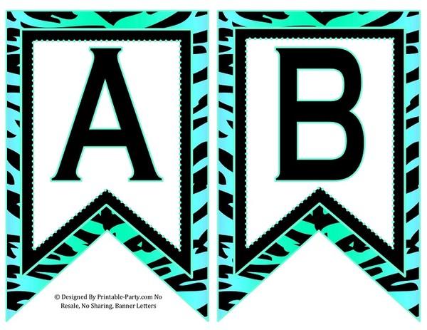 5-inch-swallowtail-aqua-light-green-zebra-printable-banner-letters-a-z-0-9