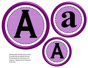 6-inch-black-purple-chevron-circle-printable-banner-letters-numbers-a-z-0-9