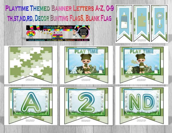 BABY-BOY-PLAYTIME-Green-THEMED-PRINTABLE-BANNER-LETTERS
