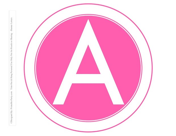 8-INCH-WHITE-HOT-PINK-CIRCLE-PRINTABLE-BANNER-LETTERS-A-Z-0-9