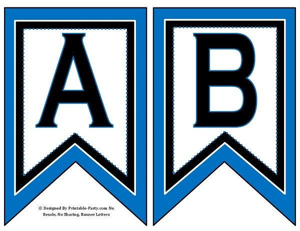 graphic about Printable Letters for Banners known as 5-inch-swallowtail-blue-black-printable-banner-letters-a-z-0-9