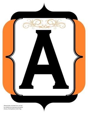fancy-black-orange-printable-banners-letters-numbers