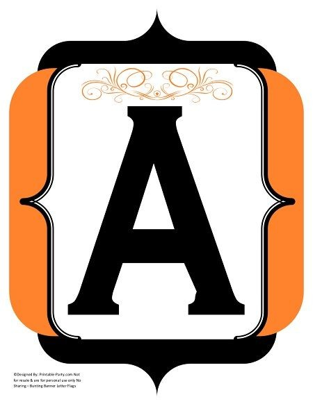 fancy-black-orange-printable-banners-letters-numbers