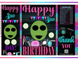 printable-potato-chip-bags-birthday-party-favors-spa-theme