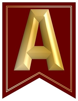 SWALLOWTAIL-PRINTABLE-ALPHABET-BANNER-LETTERS-BURGUNDY-GOLD