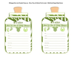 printable-green-zebra-feet-boy-baby-bottle-shaped-baby-shower-invitations