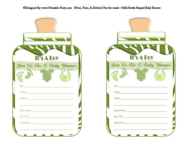 printable-green-zebra-feet-boy-baby-bottle-shaped-baby-shower-invitations
