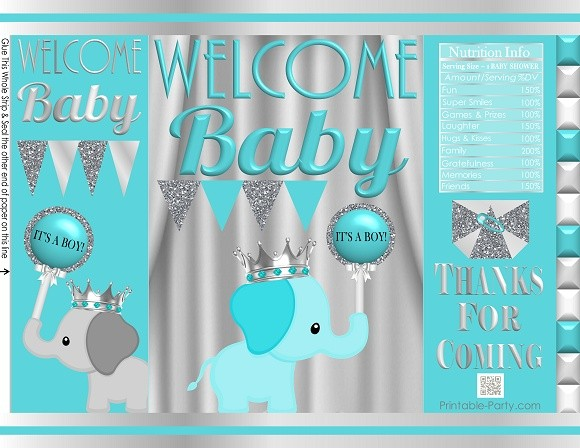 printable-potato-chip-bags-baby-shower-prince-boy-elephant-aqua-silver