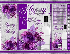photo regarding Printable Chip Bags titled printable-chip-baggage-birthday-crimson-silver-bouquets-floral-damask