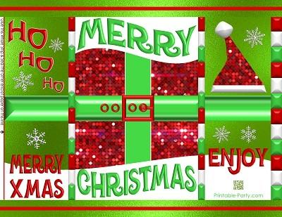 printable-potato-chip-bags-christmas-santa-clause-suit-green-bling